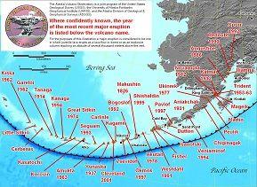 Alaska Map Volcano.Volcanic Ashfall Information