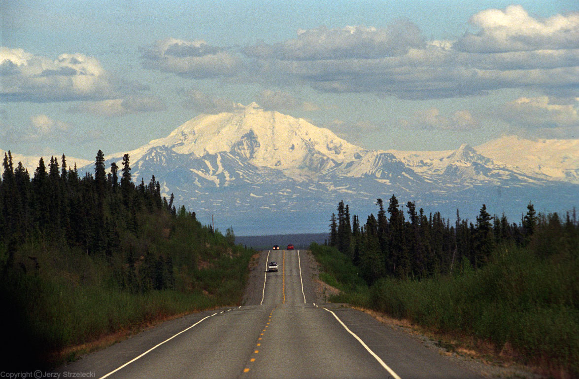 View of Denali from highway