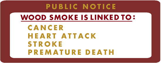 wood smoke public notice