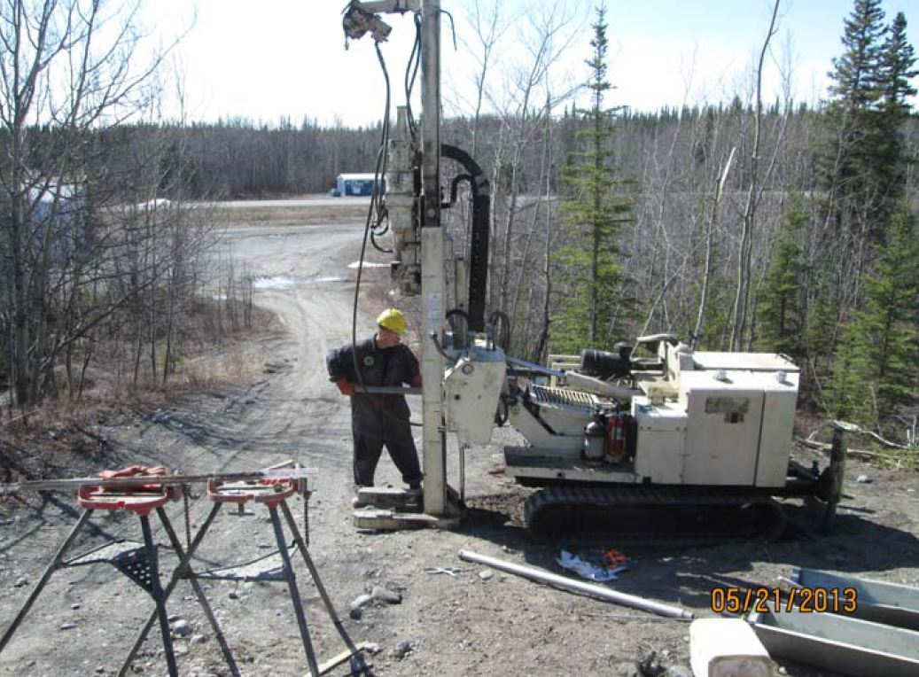 drilling for contaminants