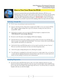 How to test my water for pfas fact sheet thumbnail