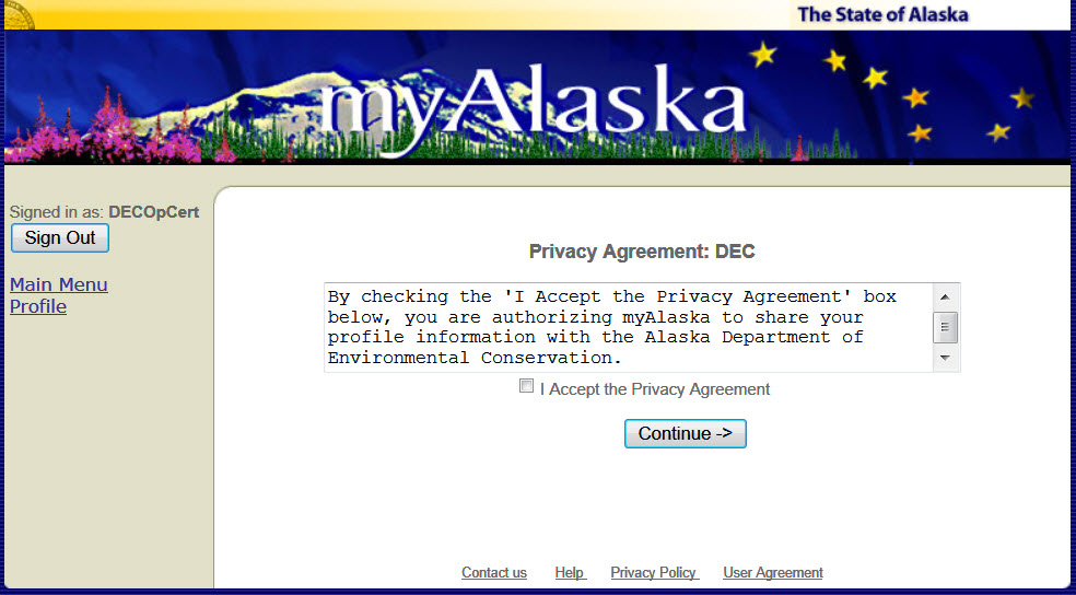 Privacy Agreement
