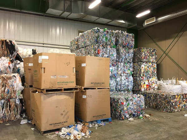 valley community for recycling solutions baled cans