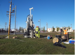 Drilling in Mountain View in Anchorage, Alaska