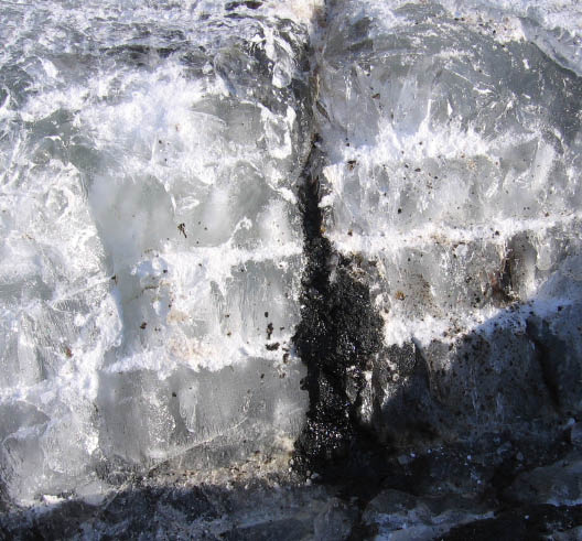 Oil in ice