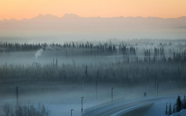 Pollution in Fairbanks during a winter heat inversion