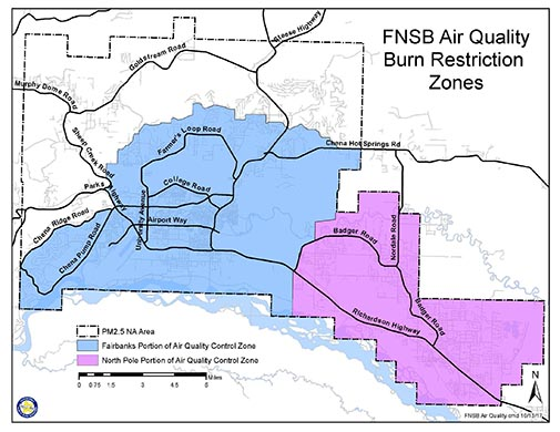 FNSB PM2.5 NA Boundary Map