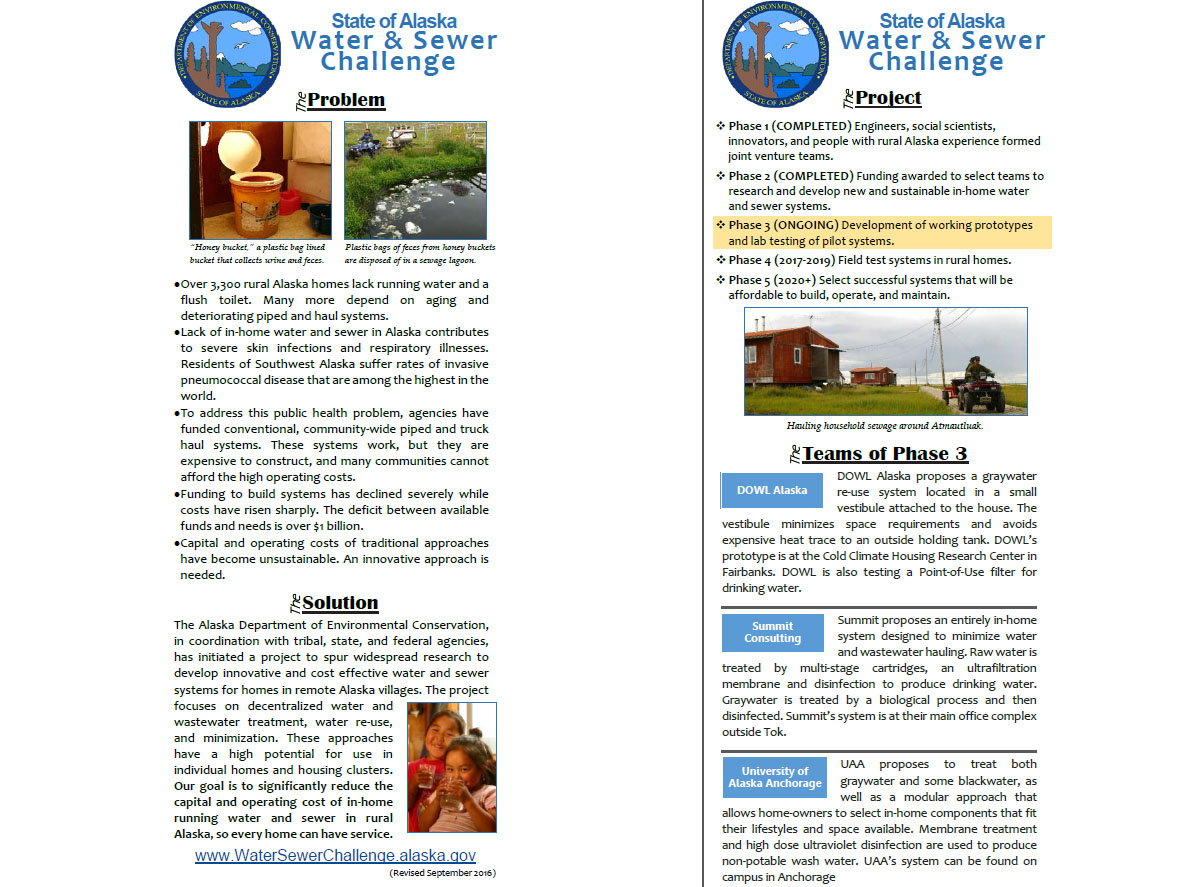 Water Sewer Challenge Brochure